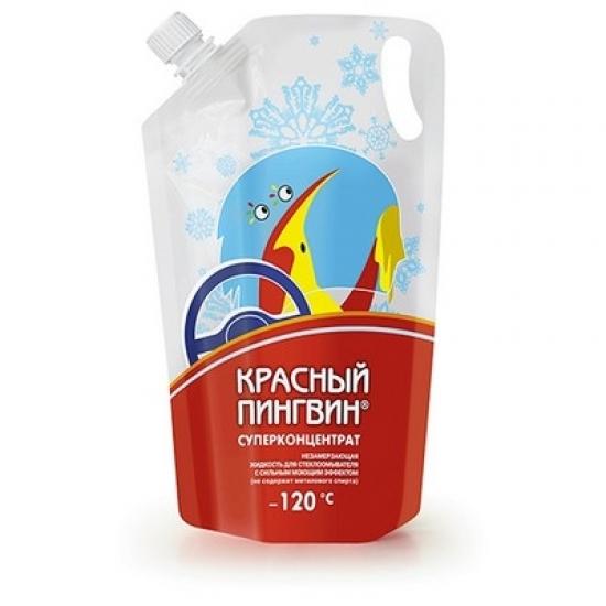 Жидкость для омывания стекол автомобиля Red Penguin -120⁰С пакет 1 л