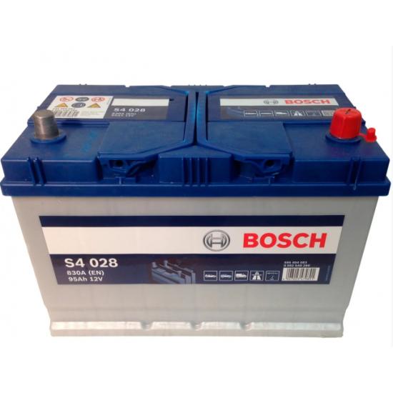 Аккумулятор 95Ah-12v BOSCH S4 028 306x173x225 R EN830 Азия