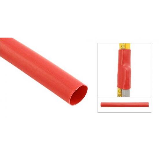 Трубка термоусадочная электроизоляционная 10 мм красная (пак 1м-30 шт)