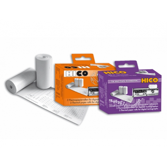 Термобумага для цифровых тахографов EEC BORG-HICO WKR009 3 рулона