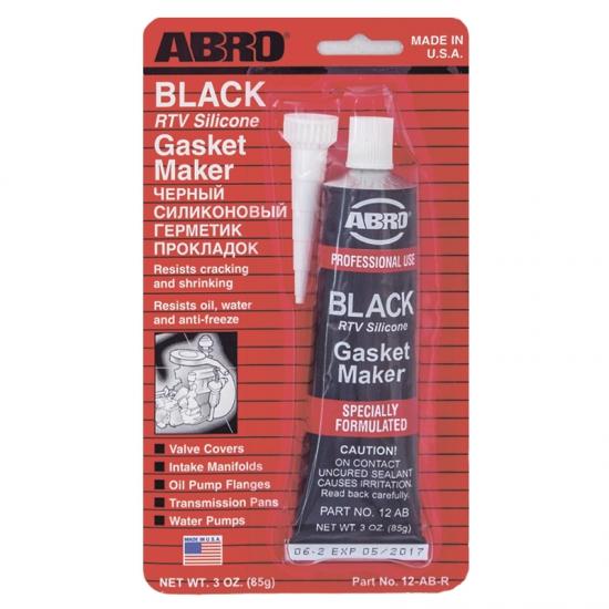 Герметик прокладок силиконовый черный ABRO 12-AB CH 85 гр