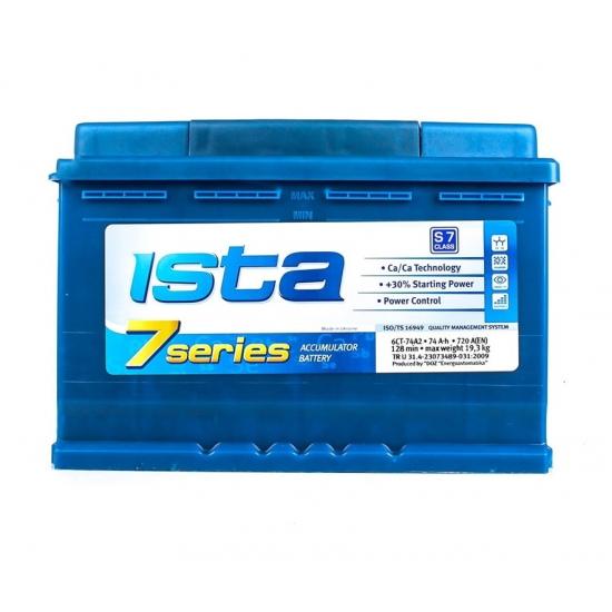 Аккумулятор стартерный ISTA 7 Series A2 6CT-74Ah 12v R+ Евро (574 22 04)