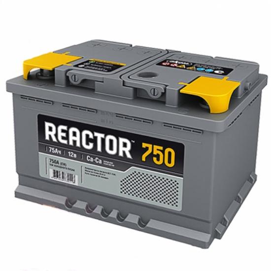 Аккумулятор стартерный Reactor 6СТ-75 Евро EN750 A (575 52 04)