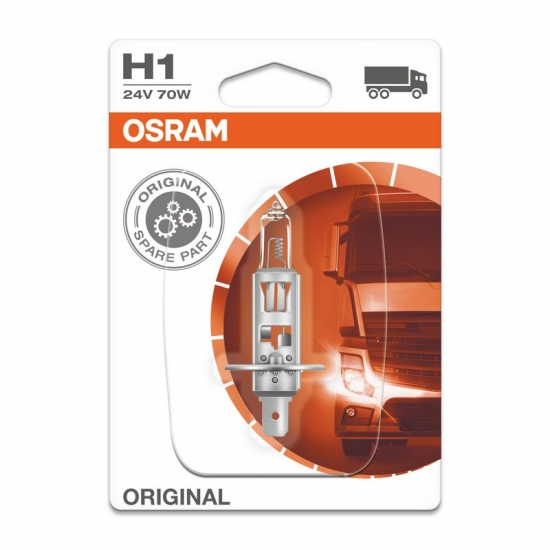 Лампа галогенная H1 Osram Original 24V 70W P14.5s 64155-BLI