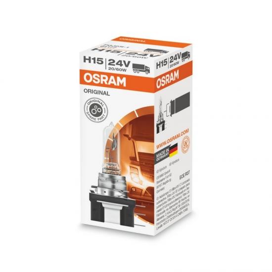 Лампа галогенная Osram Original H15 24V 20/60W PGJ23t-1 (64177-FS)
