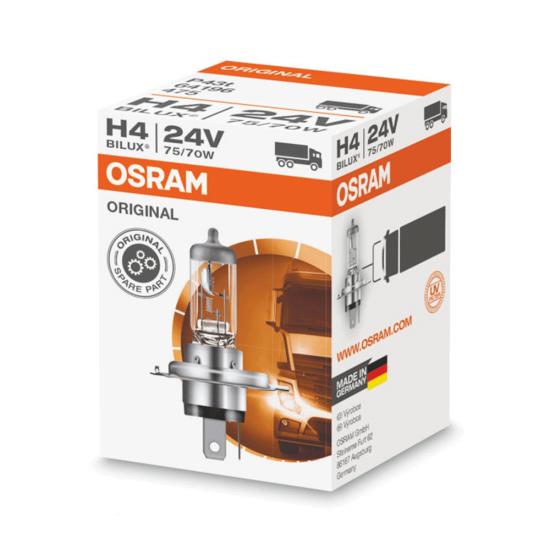 Лампа галогенная Osram Original H4 24V 75/70W P43t 64196