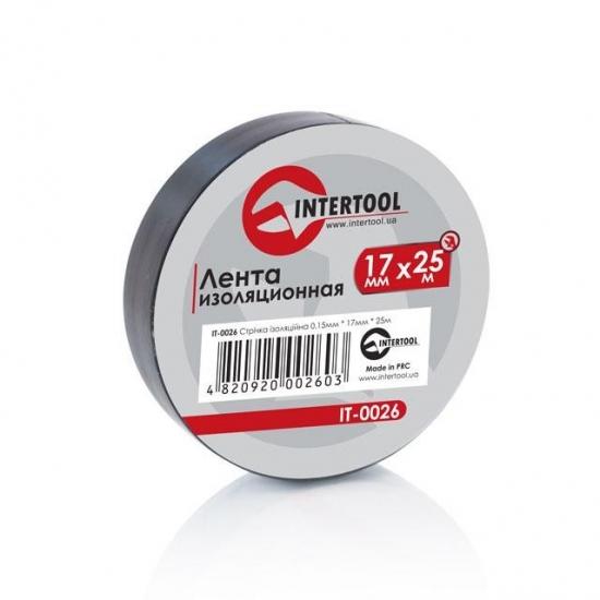 Лента изоляционная 0.15x17 мм 25 м черная Intertool IT-0026