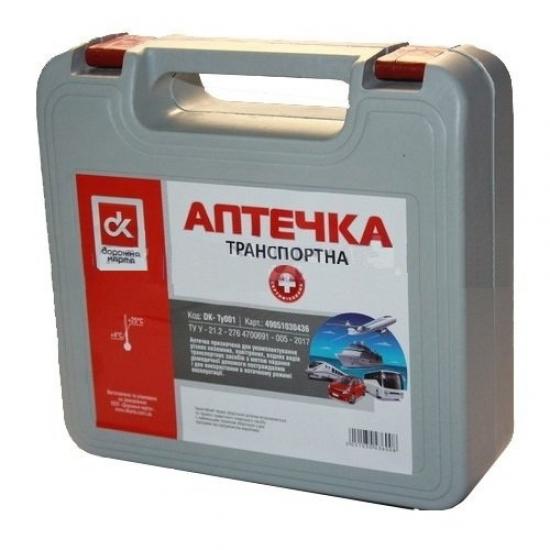 Аптечка сертифицированная транспортная ДК DK- TY001