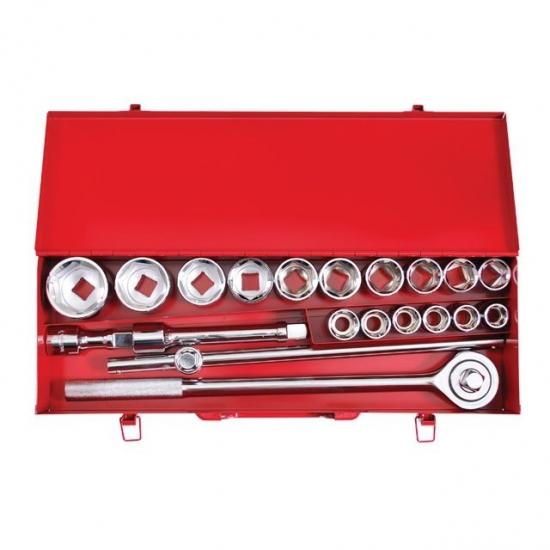 Набор инструмента 3/4 20 ед (головки 19-50 мм) металлический кейс Intertool ET-6024
