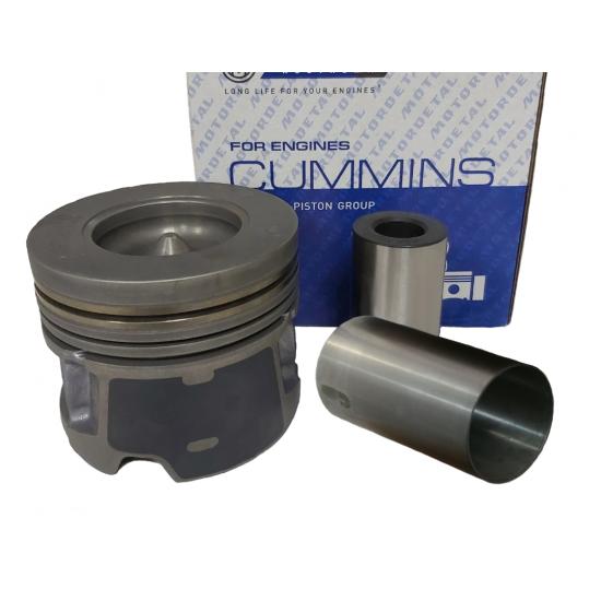 Поршнекомплект на один цилиндр Cummins ISF2,8 (поршень, палец, гильза)