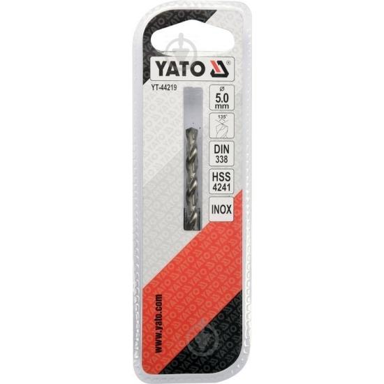 Сверло по металлу Premium HSS 4251 5x60 мм Yato YT-44219