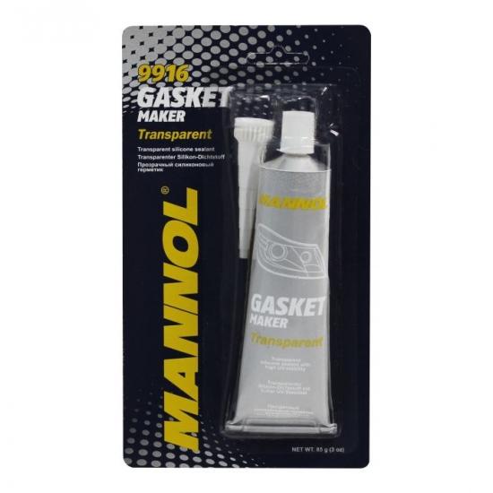 Герметик-прокладка силиконовый автомобильный прозрачный Mannol Silicone-Gasket 9916 85 г
