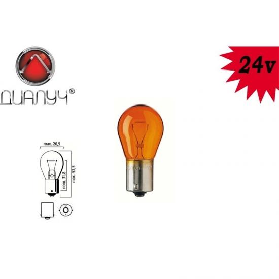 Лампа стоп-поворот Orange 24V 21W BA15s Янтарная А24-21-3 Диалуч