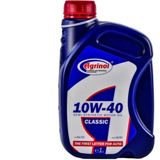 Масло моторное полусинтетическое Агринол Classic 10W-40 SG/CD 1 л