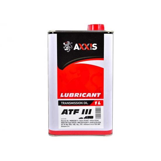 Масло трансмиссионное AXXIS ATF 3 красное 1 л