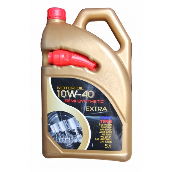 Масло моторное полусинтетическое FrostTerm Extra 10W-40 SG/CD 5 л