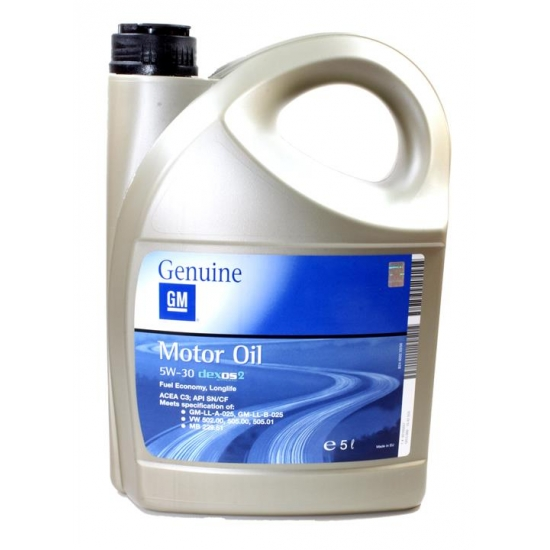 Масло моторное General Motors Dexos 2 5W-30 5 л