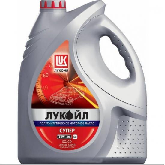 Масло моторное полусинтетическое Лукойл Супер 10w-40 SG/CD 5 л