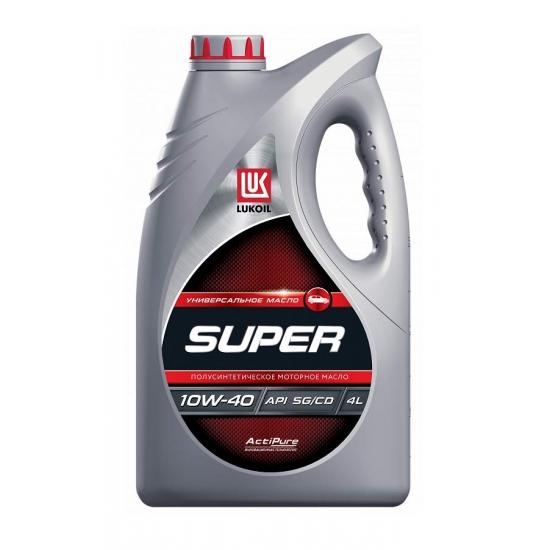Масло моторное полусинтетическое ЛУКОЙЛ Супер 10W-40 SG/CD 4 л