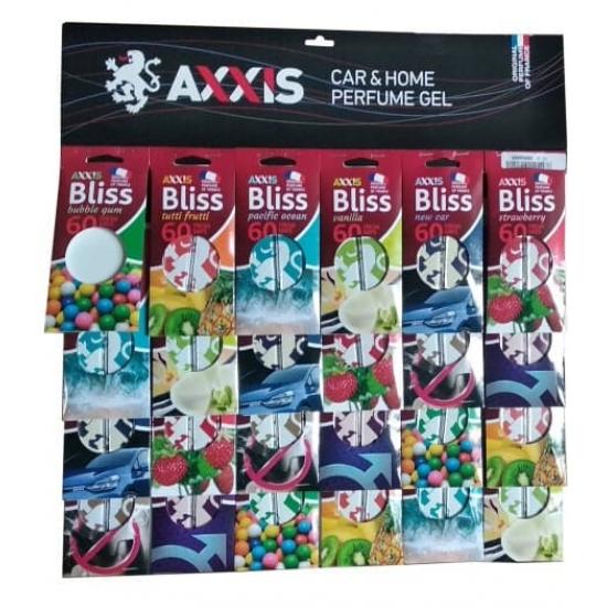 Ароматизатор AXXIS MIX Wood на планшете 16 шт (8 ароматов)