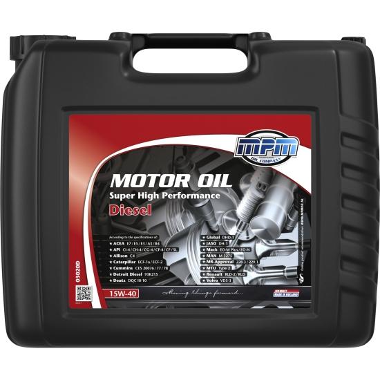 Масло моторное MPM MotorOil 15w-40 Super High Performance Diesel 20 л/17,4 кг