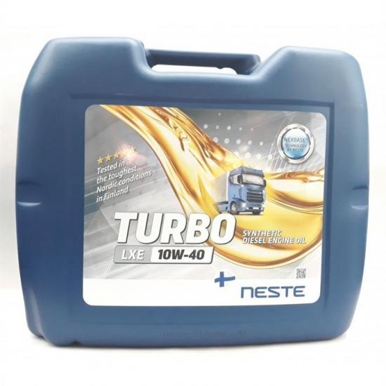 Масло моторное синтетичеcкое Neste Turbo LXE 10W40 API CI-4/SL 20л/17кг