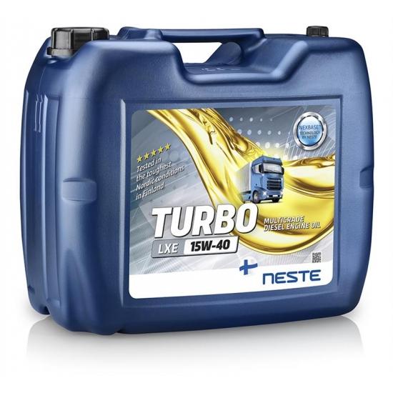 Масло моторное минеральное Neste Turbo LXE 15W40 API CI-4/SL 18 кг
