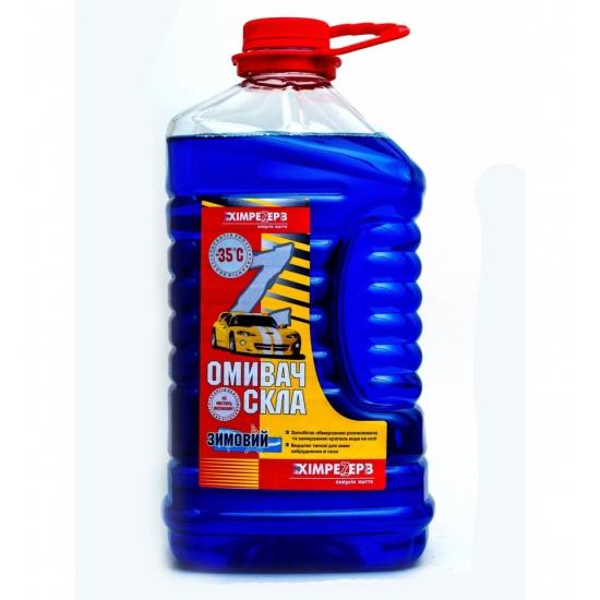 Омыватель стекла зимний -35ºС Химрезерв Морская волна синий пэт 1 л (0.9 кг)