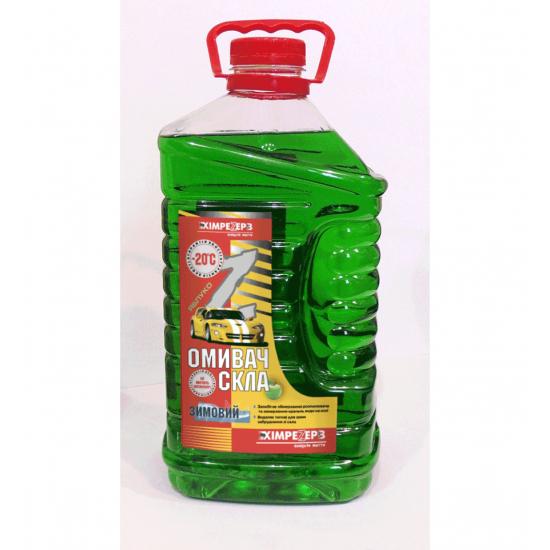 Омыватель стекла зимний -20ºС Химрезерв Яблоко зеленое пэт 4 л (3.6 кг)
