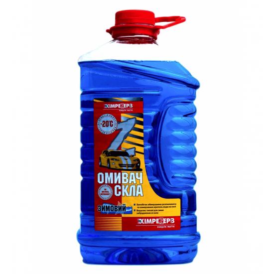 Омыватель стекла зимний -20ºС Химрезерв Морская волна синий пэт 4 л (3.6 кг)
