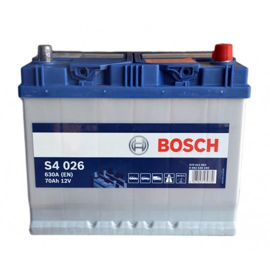 Аккумулятор 70Ah-12v BOSCH S4 026 261x175x220 R EN630 Азия
