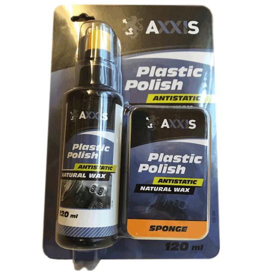 Полироль очиститель пластика автосалона с губкой Axxis VSB-088 120 мл