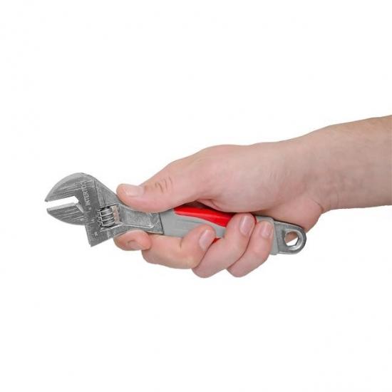 Ключ разводной 200 мм изолированная рукоятка никелевое покрытие Intertool XT-0020
