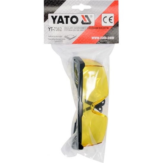 Очки защитные открытые Yato YT-7362