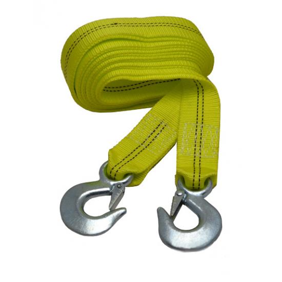 Трос буксировочный 6 т 50 мм 4,5/5,0 м С-крюк желтый ДК DK46-PP645/50