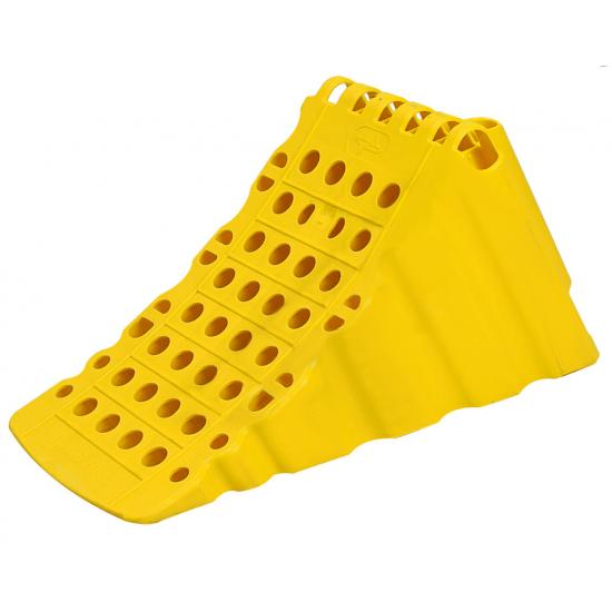 Упор противооткатный пластиковый 470х200х230 мм желтый (пр-во Петропласт)